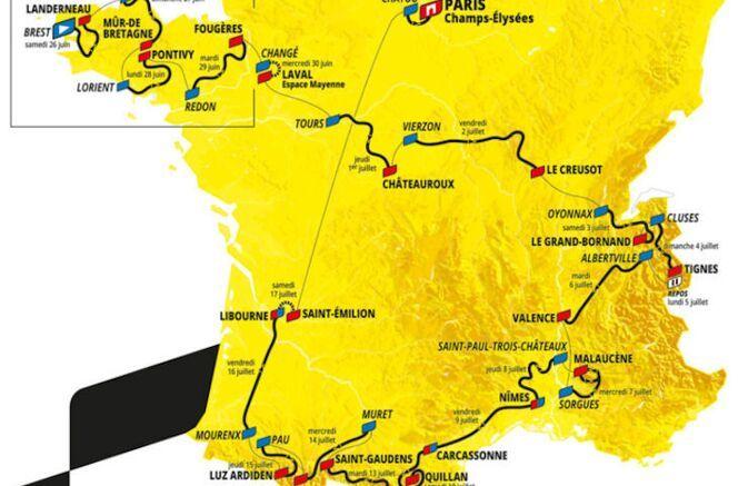 Routeschema Tour de France